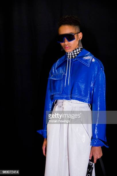 Models pose backstage prior the Kenzo Menswear Spring Summer 2019 show as part of Paris Fashion Week on June 24 2018 in Paris France