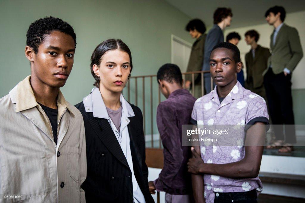 Officine Generale : Backstage - Paris Fashion Week - Menswear Spring/Summer 2019 : ニュース写真