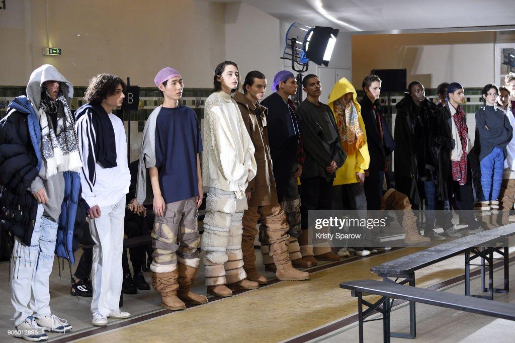 Y/Project : Backstage - Paris Fashion Week - Menswear F/W 2018-2019 : ニュース写真