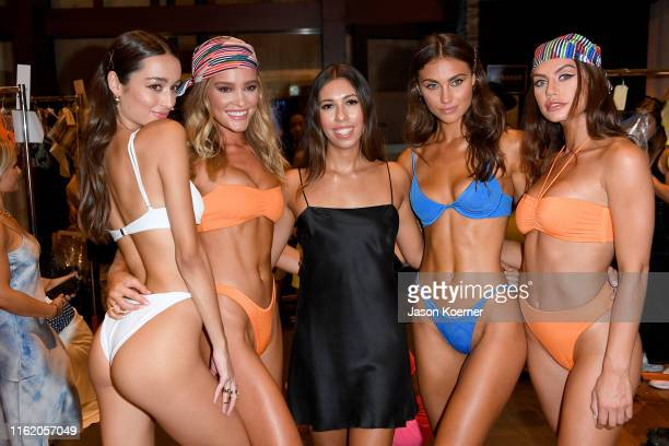 Models pose backstage wearing TJ Swim at Fashion Palette Miami Swim Week – The Australian Collection Show 2019: TJ Swim, Lil & Emm, Lahana Swim,...