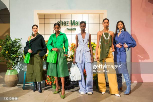 Models pose during the Jacquemus show as part of the Paris Fashion Week Womenswear Fall/Winter 2019/2020 on February 25, 2019 in Paris, France.