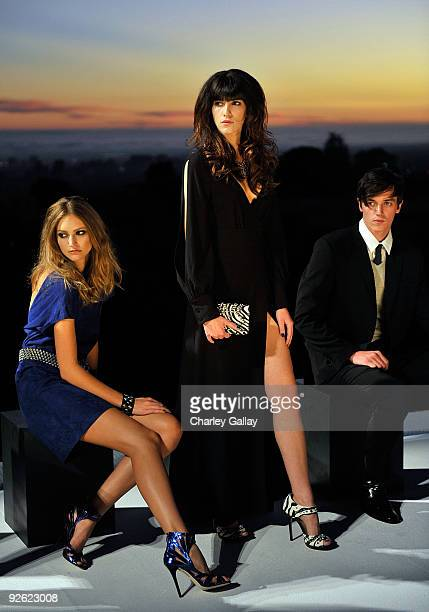 Models pose during the Jimmy Choo for HM Collection private event in support of the Motion Picture Television Fund on November 2 2009 in West...
