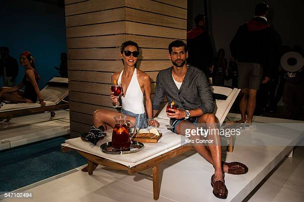 Models pose during the Nautica Presentation at Skylight Clarkson Sq on July 13, 2016 in New York City.