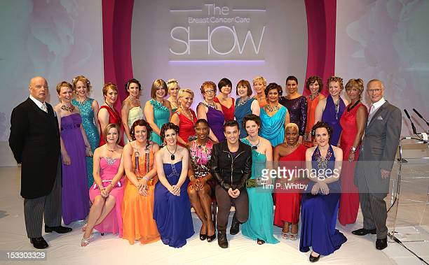 Models pose for a group photo with Denise Lewis and joe McElderry at Breast Cancer Care's London fashion show at Grosvenor House a JW Marriott Hotel...