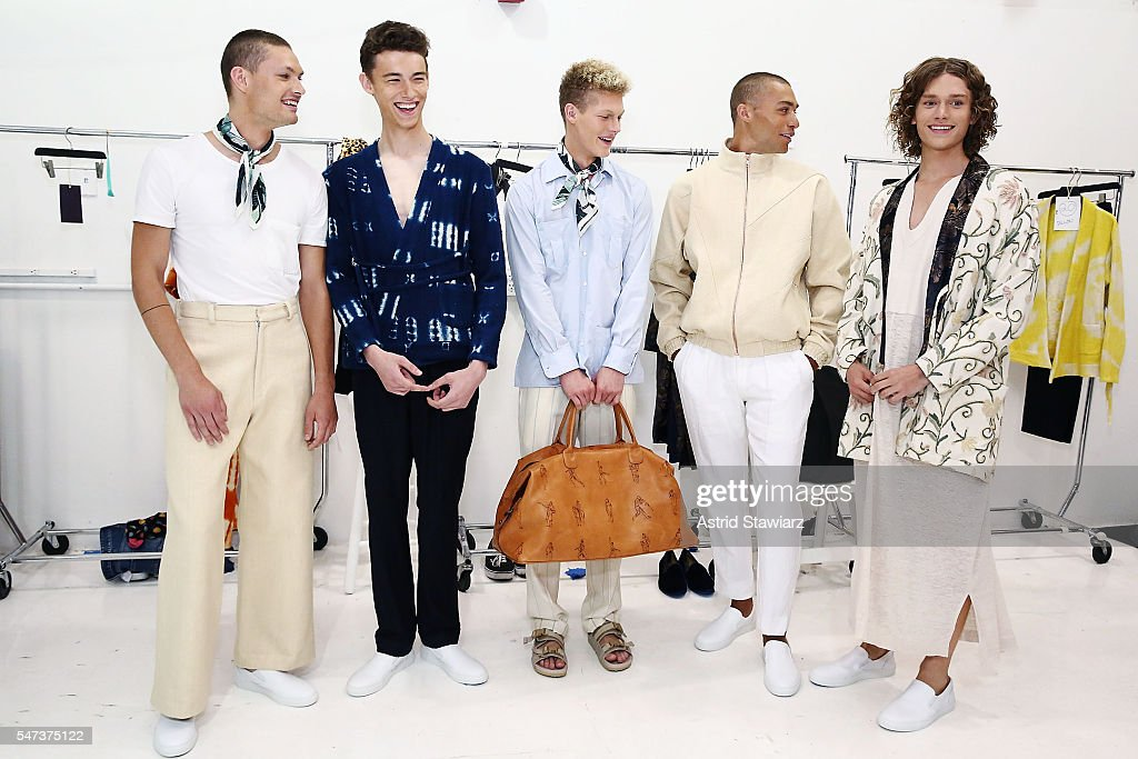 NY: Palmiers Du Mal - Backstage - New York Fashion Week: Men's S/S 2017