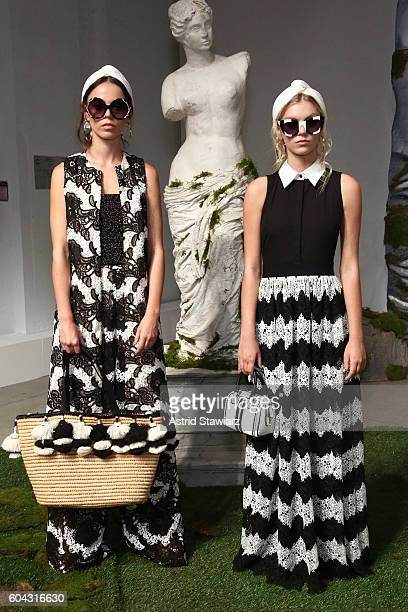 Models pose for the Alice Olivia by Stacey Bendet Spring/Summer 2017 Presentation during New York Fashion Week September 2016 at The Gallery Skylight...
