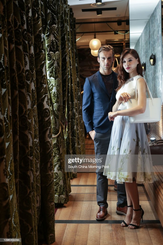 029161f466d Models pose for the fashion shooting of Ted Baker in Causeway Bay. 23AUG16  SCMP /