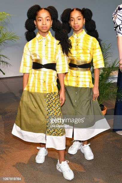 Models pose for the Studio 189 presentation during New York Fashion Week: The Shows at Gallery II at Spring Studios on February 11, 2019 in New York...