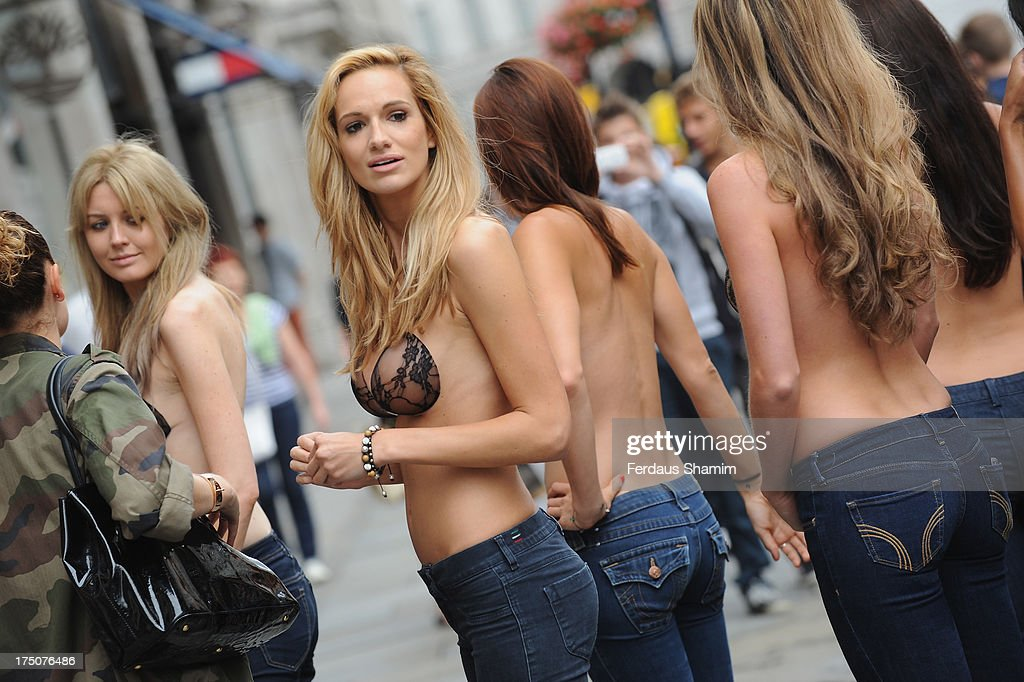 8ee39c33c710a Models pose model pose at the UK launch of InvisiBra at Regent ...