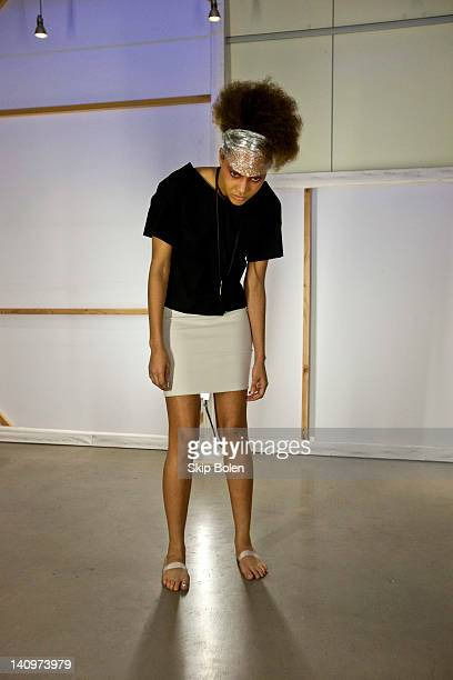 Models pose on the runway in the Matthew Arthur Presentation at AIA New Orleans during Fall/Winter 2012 NOLA Fashion Week on March 8 2012 in New...