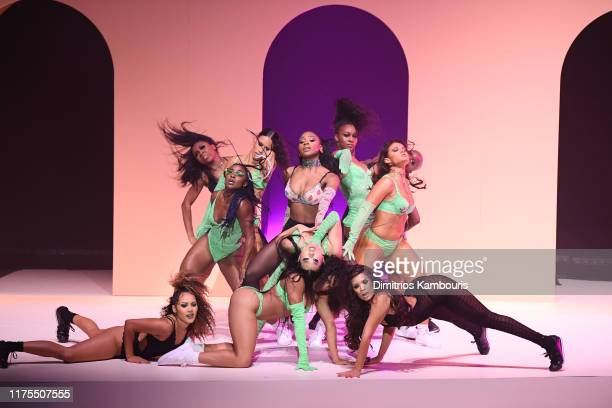 Models pose onstage during the Savage X Fenty Show Presented by Amazon Prime Video Show at Barclays Center on September 10 2019 in Brooklyn New York