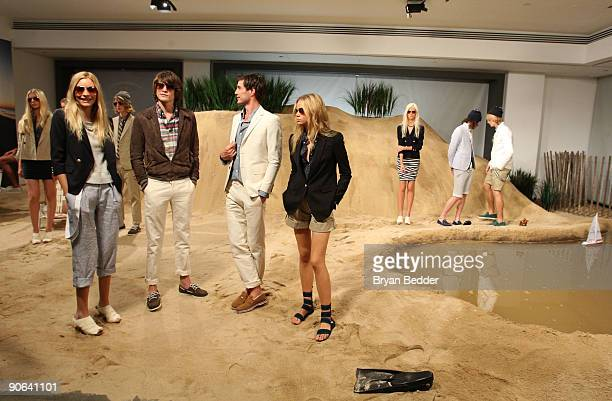 Models pose wearing Band Of Outsiders/Boy Spring 2010 at Milk Studios on September 12 2009 in New York New York