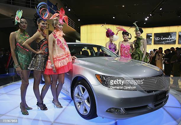 Models pose with the Lexus LS460 at the Australian International Motorshow October 26 2006 in Sydney Australia The motorshow runs for ten days with...