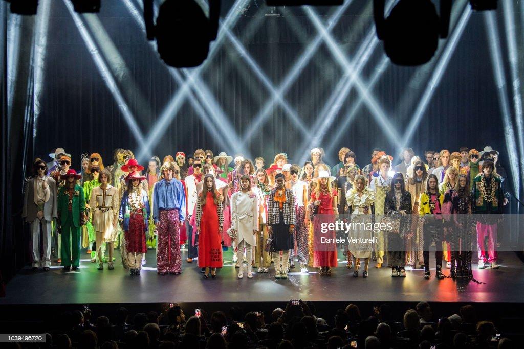 Gucci - Show and Finale - Paris Fashion Week Spring/Summer 2019 : Nachrichtenfoto