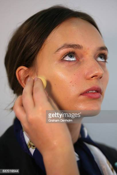 Models prepare backstage ahead of the We Are Kindred show at MercedesBenz Fashion Week Resort 17 Collections at Carriageworks on May 18 2016 in...