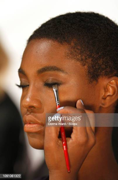 models prepare backstage at charlotte ronson presentation during the mercedes-benz fall/winter 2015 - ronson stock photos and pictures