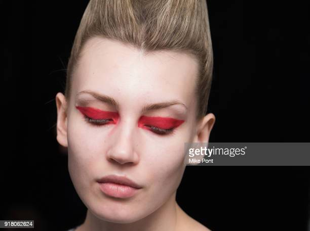 Models prepare backstage at The Blonds fashion show during New York Fashion Week The Shows at Spring Studios on February 13 2018 in New York City