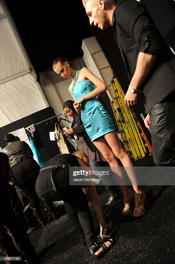 Edition by Georges Chakra - Backstage - Spring 2011 MBFW : News Photo