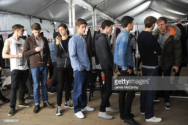 ff7ff872d6d720 Models prepare backstage at the Tommy Hilfiger Presents Fall 2012 Men s  Collection show during MercedesBenz Fashion