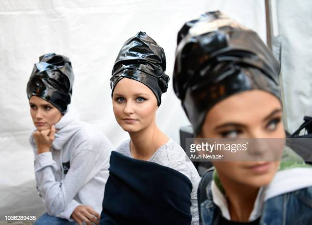 Models prepare backstage at Vancouver Fashion Week Spring/Summer 19 Day 2 on September 18 2018 in Vancouver Canada