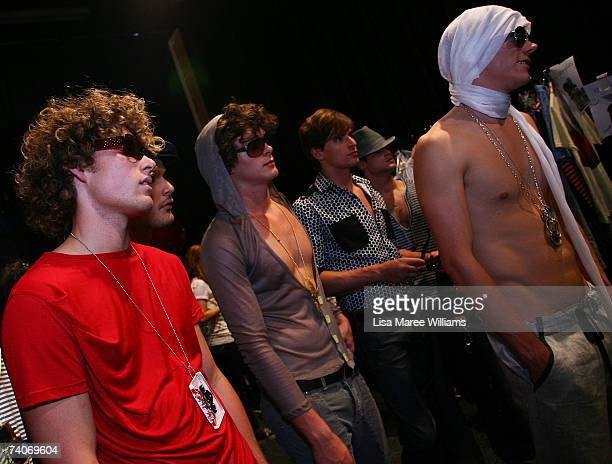 Models prepare backstage prior to the New Generation show on day five of Rosemount Australian Fashion Week Spring/Summer 2007/08 at the Cargo Hall in...