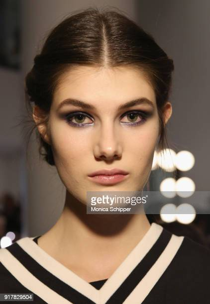 Models prepare backstage with TRESemme At Carolina Herrera NYFW AW18 on February 12 2018 in New York City