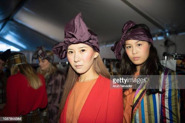Models prepares backstage at Vancouver Fashion Week Spring/Summer 19 Day 4 on September 20 2018 in Vancouver Canada