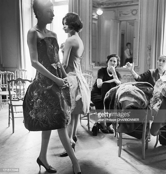 Models Preparing The Cardin Fahion Show