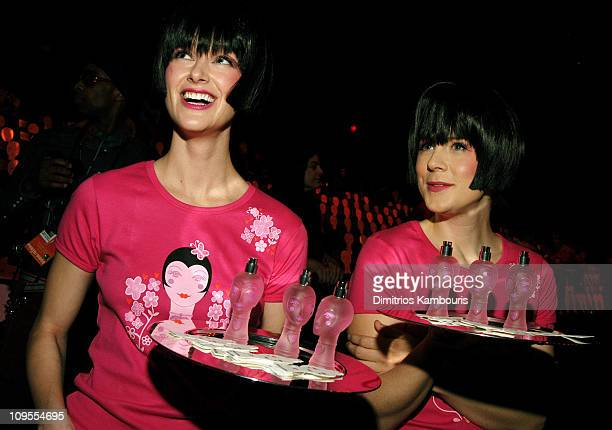 Models present Anna Sui's new fragrance, Dolly Girl