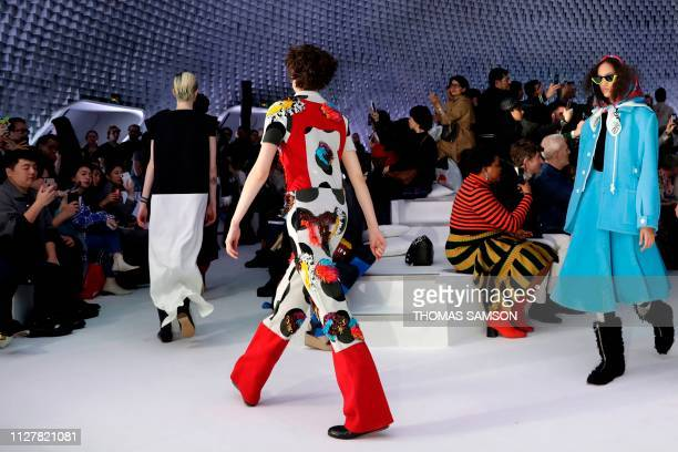 Models present creations by Courreges during the Women's FallWinter 2019/2020 ReadytoWear collection fashion show in Paris on February 27 2019