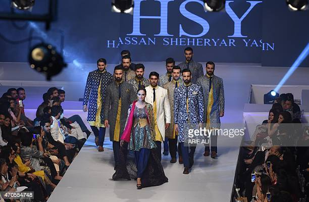 Designer Hassan Sheheryar Yasin Creations Present At The Fashion Week Stock Pictures Royalty Free Photos Images Getty Images