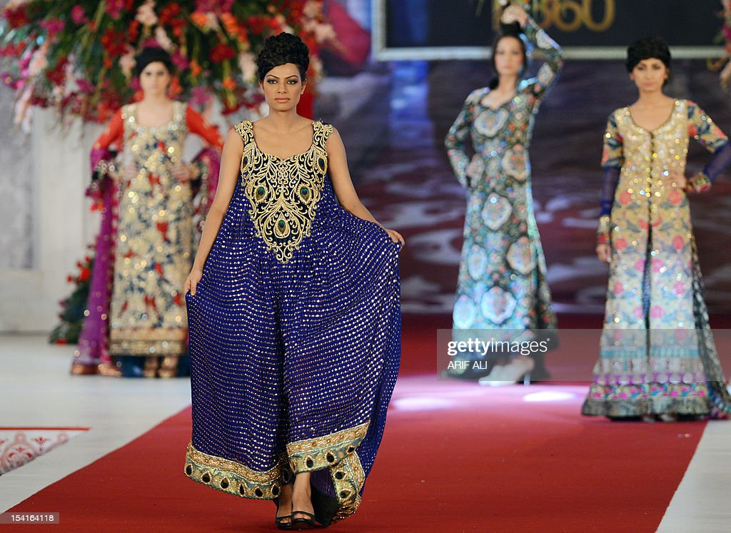 Models Present Creations By Pakistani Designer Tabassum Mughal On The News Photo Getty Images
