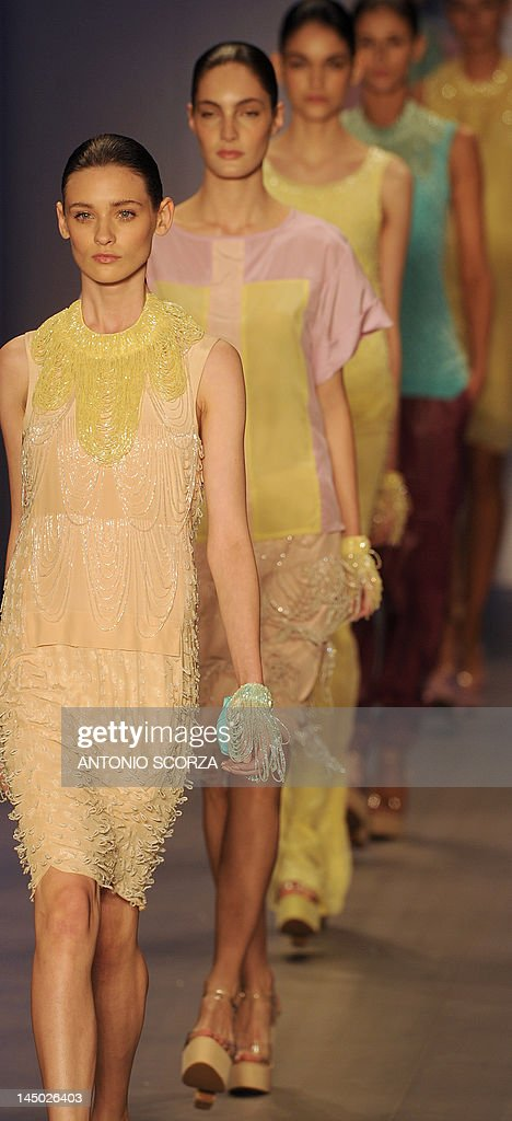 Models present creations by Patachou at  : News Photo