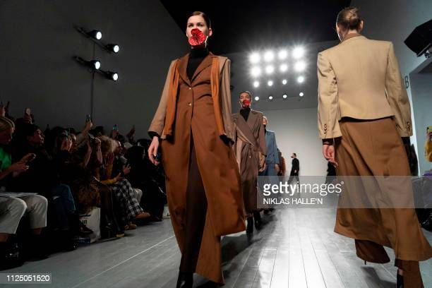 GBR: Marta Jakubowski - Front Row - LFW February 2019