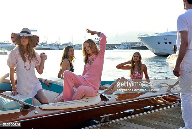 Models present the Chanel Cruise Collection Presentation in Saint Tropez