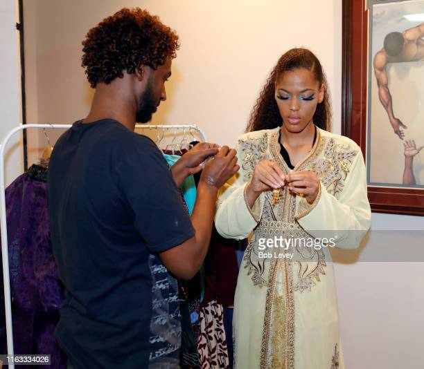 Models provided by Revalushion Management Agency for Solel International's Annual Fete Moroamericana featuring designs by Hamza Fashions at Houston...
