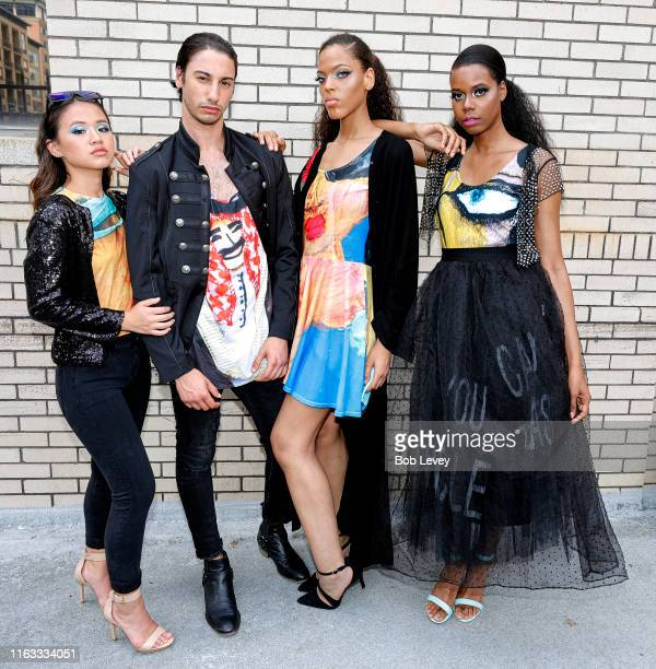 Models provided by Revalushion Management Agency for Solel International's Annual Fete Moroamericana featuring Fashion Art Printwork by Her Highness...