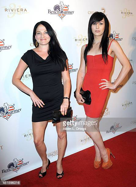 Models Rachael McCrary and Plastic Martyr arrive for BenchWarmer's Annual Stars Stripes Celebration held at Riviera 31 on July 1 2014 in Beverly...