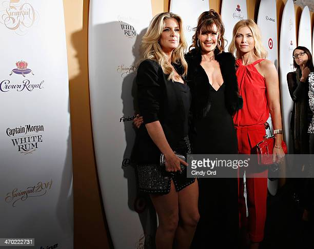 Models Rachel Hunter Carol Alt and Daniela Pestova attend as Captain Morgan White Rum and Crown Royal XO raise a glass to the Sports Illustrated...