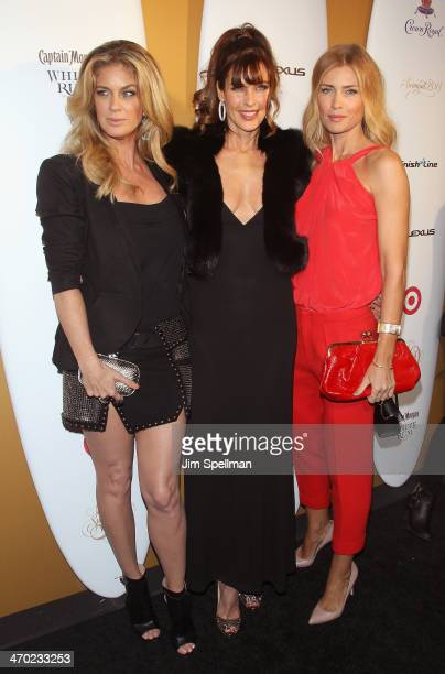 Models Rachel Hunter Carol Alt and Daniela Pestova attend the Sports Illustrated Swimsuit 50th Anniversary Party at Swimsuit Beach House on February...