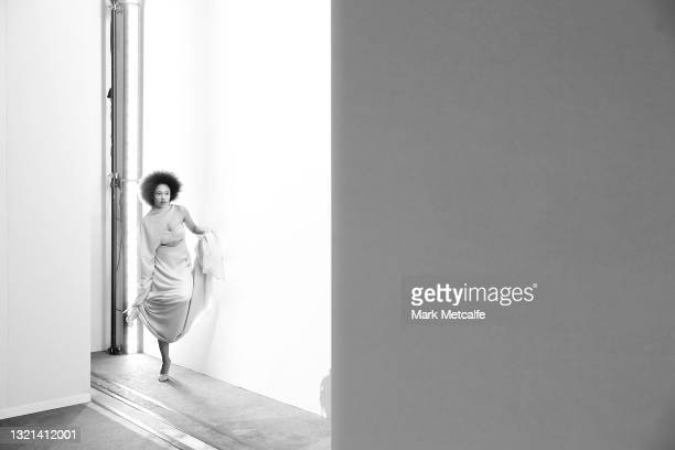 Models rehearse ahead of the Mariam Seddiq show during Afterpay Australian Fashion Week 2021 Resort '22 Collections at Carriageworks on June 02, 2021...