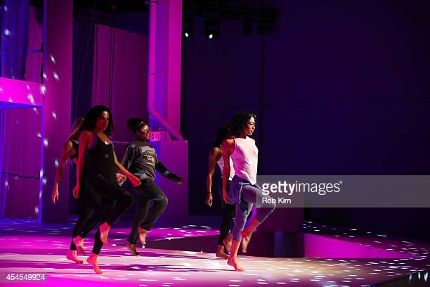 Models rehearse at Athleta during MercedesBenz Fashion Week Spring 2015 at SIR Stage on September 3 2014 in New York City