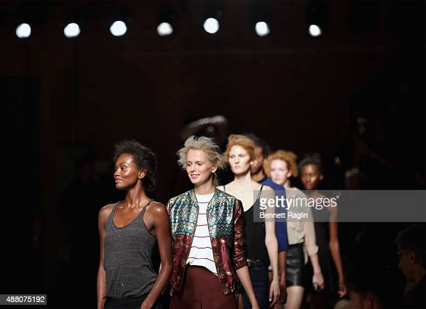 Models rehearse at Tracy Reese S/S 2016 with SheaMoisture during New York Fashion Week at Art Beam on September 13 2015 in New York City