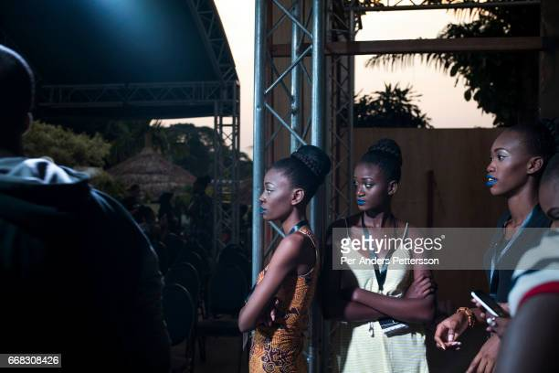 Models rehearse before a show at the Pullman Grand Hotel in Kinshasa during the Congo Fashion Week Democratic Republic of Congo on October 10 2015