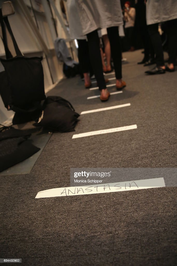 Models rehearse for the Noon by Noor fashion show during New York Fashion Week: The Shows at Gallery 3, Skylight Clarkson Sq on February 9, 2017 in New York City.