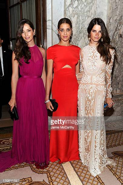Models Renata Maciel Ana Beatriz Barros Jeisa Chiminazzo attend the 4th Annual amfAR Inspiration Gala New York at The Plaza Hotel on June 13 2013 in...