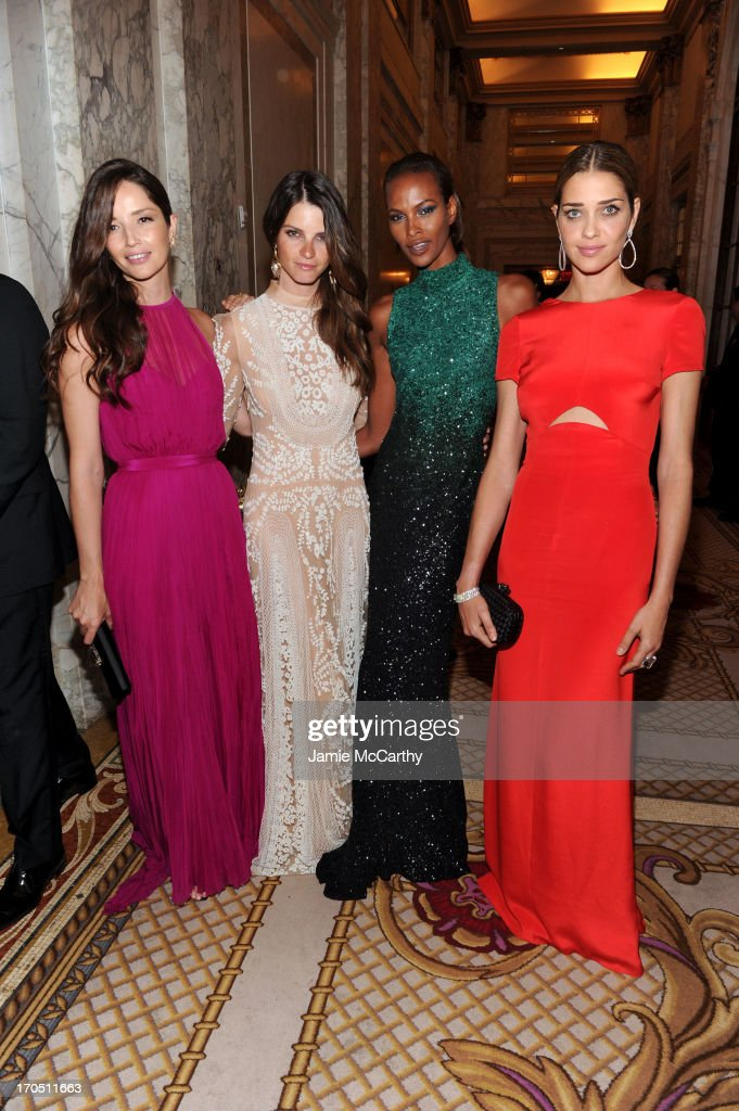 Models Renata Maciel, Jeisa Chiminazzo, Yasmin Warsame and Ana Beatriz Barros attend the 4th Annual amfAR Inspiration Gala New York at The Plaza Hotel on June 13, 2013 in New York City.