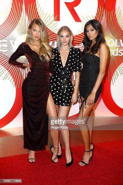 Models Romee Strijd Elsa Hosk and Kelly Gale attend Revolve's second annual #REVOLVEawards at Palms Casino Resort on November 9 2018 in Las Vegas...