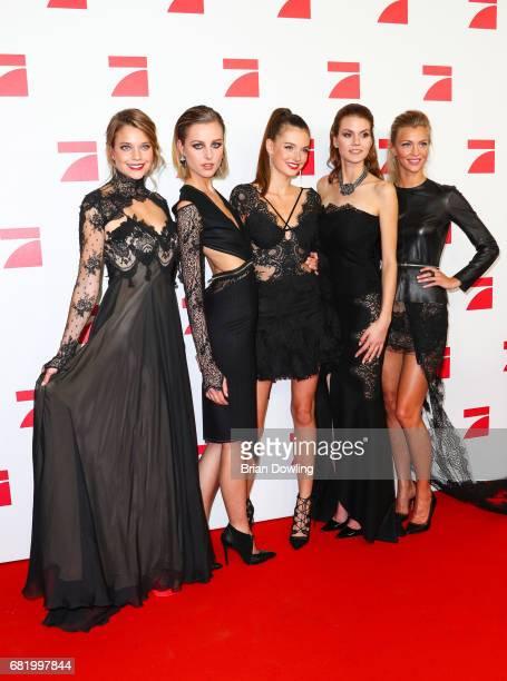 Models Sabine Fischer Maja Manczak Celine Badman Lynn Petertonkoker and Serlina Hohmann from Seaeson 12 of Germany's Next Top Model representing Team...