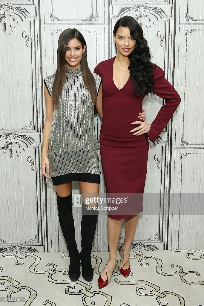 Models Sara Sampaio (L) and Adriana Lima attend Build Presents Victoria's Secret Angels Sara Sampaio and Adriana Lima at AOL HQ on December 5, 2016 in New York City.